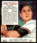 1953 Red Man #25 NL Bobby Thomson  Front Thumbnail
