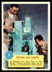 1963 Topps Astronauts 3D #3   Testing the Chimps Front Thumbnail