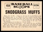 1961 Nu-Card Scoops #454   -   Fred Snodgrass  Snodgrass Muffs a Fly Ball Back Thumbnail
