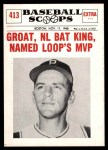 1961 Nu-Card Scoops #413   -   Dick Groat  Groat, NL Bat King, Named Loop's MVP Front Thumbnail