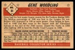 1953 Bowman B&W #31  Gene Woodling  Back Thumbnail