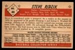 1953 Bowman B&W #48  Steve Ridzik  Back Thumbnail