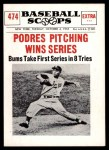 1961 Nu-Card Scoops #474   -  Johnny Podres Podres Pitching Wins Series Front Thumbnail