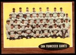 1962 Topps #226   Giants Team Front Thumbnail