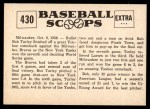 1961 Nu-Card Scoops #430   -  Bob Turley Bob Turley Hurls Yanks to Championship Back Thumbnail