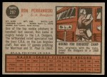 1962 Topps #297  Ron Perranoski  Back Thumbnail