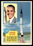 1963 Topps Astronauts 3D #13   -  Alan Shepard Shepard in Space Front Thumbnail