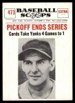 1961 Nu-Card Scoops #473   -   Marty Marion  Pickoff Ends Series Front Thumbnail
