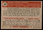 1952 Topps #300  Barney McCoskey  Back Thumbnail