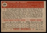 1952 Topps #299  Ray Murray  Back Thumbnail