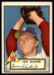 1952 Topps #306  Lou Sleater  Front Thumbnail