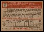 1952 Topps #307  Frank Campos  Back Thumbnail