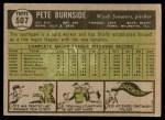 1961 Topps #507  Pete Burnside  Back Thumbnail