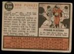 1962 Topps #120 GRN Bob Purkey  Back Thumbnail