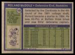 1972 Topps #168  Ron McDole  Back Thumbnail