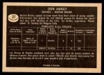 1967 Topps #37  Don Awrey  Back Thumbnail