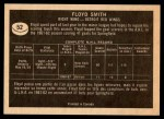 1967 Topps #52  Floyd Smith  Back Thumbnail