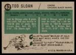1958 Topps #42  Tod Sloan  Back Thumbnail