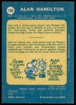 1969 O-Pee-Chee #192  Al Hamilton  Back Thumbnail