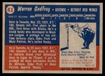 1957 Topps #41  Warren Godfrey  Back Thumbnail