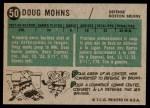 1958 Topps #50  Doug Mohns  Back Thumbnail