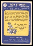 1969 Topps #41  Ron Stewart  Back Thumbnail