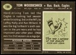 1969 Topps #198  Tom Woodeshick  Back Thumbnail