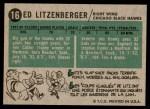 1958 Topps #16  Ed Litzenberger  Back Thumbnail