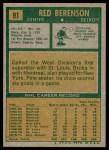 1971 Topps #91  Red Berenson  Back Thumbnail