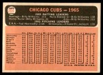 1966 Topps #204   Cubs Team Back Thumbnail