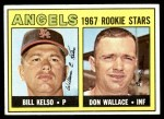 1967 Topps #367   -  Bill Kelso / Don Wallace Angels Rookies Front Thumbnail