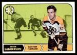 1968 Topps #6  Derek Sanderson  Front Thumbnail