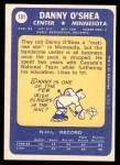 1969 Topps #131  Danny O'Shea  Back Thumbnail