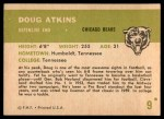 1961 Fleer #9  Doug Atkins  Back Thumbnail