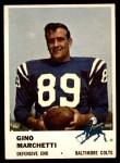 1961 Fleer #37  Gino Marchetti  Front Thumbnail