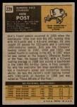 1971 Topps #229  Dick Post  Back Thumbnail