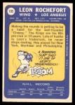 1969 Topps #105  Leon Rochefort  Back Thumbnail