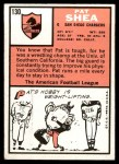 1966 Topps #130  Pat Shea  Back Thumbnail