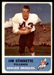1962 Fleer #42  Jim Stinnette  Front Thumbnail