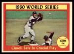 1961 Topps #309   -  Gino Cimoli 1960 World Series - Game #4 - Cimoli Safe in Critical Play Front Thumbnail