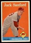 1958 Topps #264  Jack Sanford  Front Thumbnail