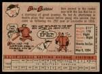 1958 Topps #297  Don Buddin  Back Thumbnail