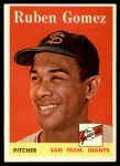 1958 Topps #335  Ruben Gomez  Front Thumbnail