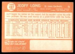 1964 Topps #497  Jeoff Long  Back Thumbnail