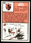 1966 Topps #128  Ron Mix  Back Thumbnail