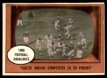 1961 Topps #57   -  Johnny Unitas 1960 Football Highlights Front Thumbnail