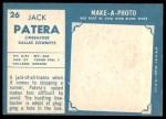 1961 Topps #26  Jack Patera  Back Thumbnail