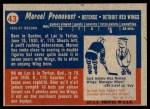 1957 Topps #43  Marcel Pronovost  Back Thumbnail