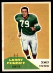 1960 Fleer #95  Larry Cundiff  Front Thumbnail