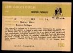 1961 Fleer #180  Jim Colclough  Back Thumbnail